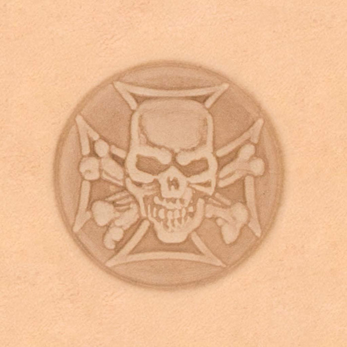Motorcycle & Punk Stamp - Skull Shield