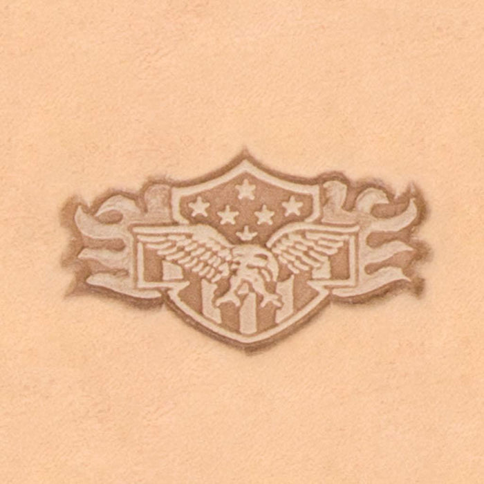 Motorcycle & Punk Stamp - Eagle Shield