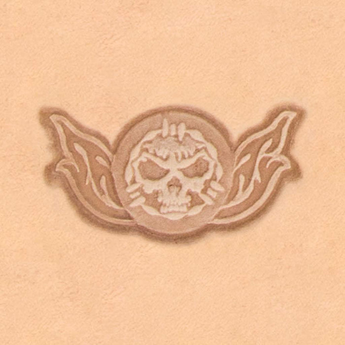 Motorcycle & Punk Stamp - Skull Barbwire