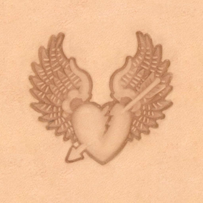 Motorcycle & Punk Stamp - Broken Heart
