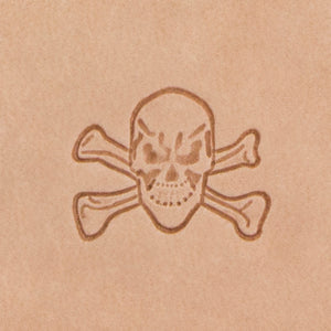 Skull Crossbones Mini 3D Stamp