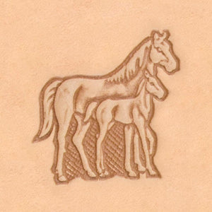 America Continent Animal Stamp - Mare & Colt