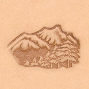 Nature Stamp - Mountains & Tree