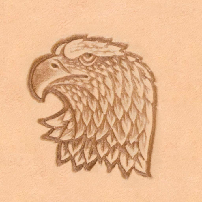 America Continent Animal Stamp - Eagle Head, Left