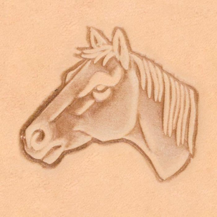 America Continent Animal Stamp - Horse Head, Left