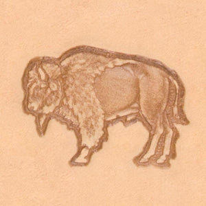 America Continent Animal Stamp - Buffalo