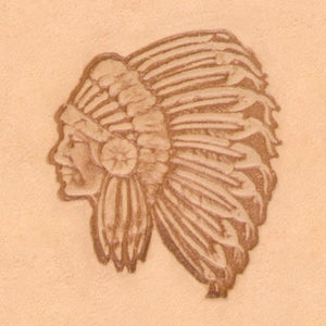 Western Cowboy Stamp - Indian Chief