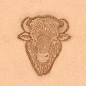 America Continent Animal Stamp - Buffalo Head