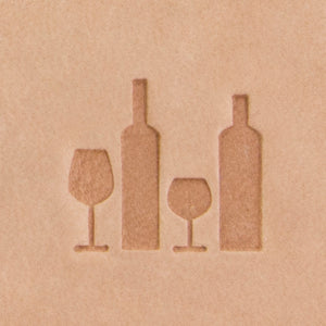 Wine Bottles Mini 2D Stamp