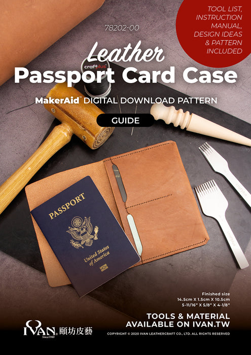 Leather Passport Card Case Digital Download Pattern