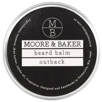 moore and baker beard balm outback friends of alma. Black Bedroom Furniture Sets. Home Design Ideas