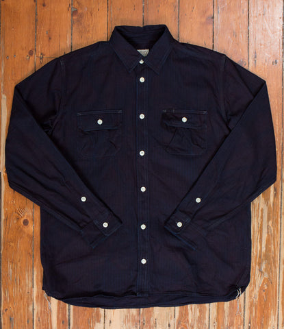 Badger Shirt - Indigo Stripe