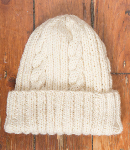 Brendan Beanie - Natural Wool