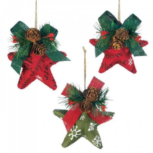 Christmas Stars Ornament Set