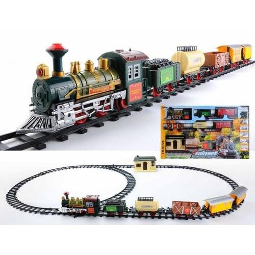 18-Piece Battery Operated Lighted & Animated Continental Express Train Set with Sound