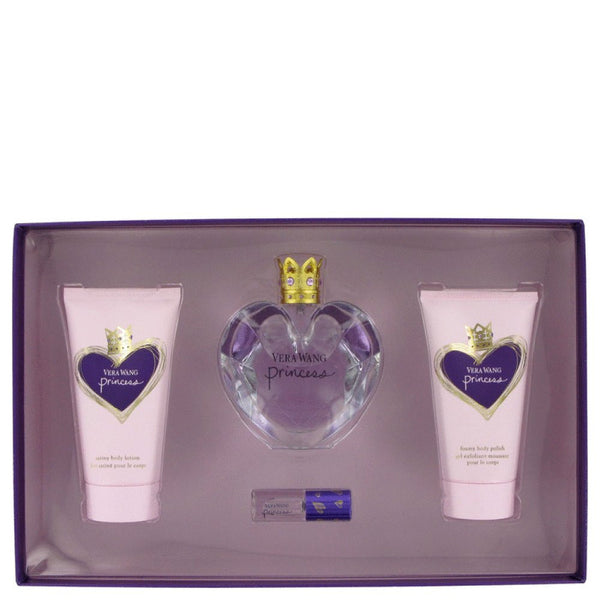 Princess By Vera Wang Gift Set -- 1.7 Oz Eau De Toilette Spray + 2.5 Oz Body Lotion + 2.5 Oz Body Polish + .13 Mini Edp