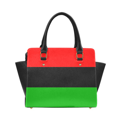 Red, black and green pan african flag bag