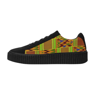 thick sole kente cloth shoes