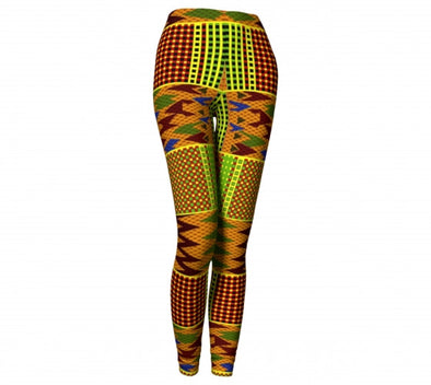 Long African kente print leggings