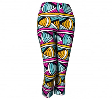 Colorful African print pants