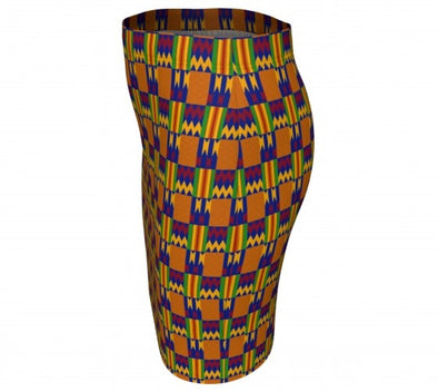 knee length kente skirt