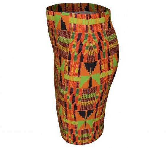 traditional kente print skirt
