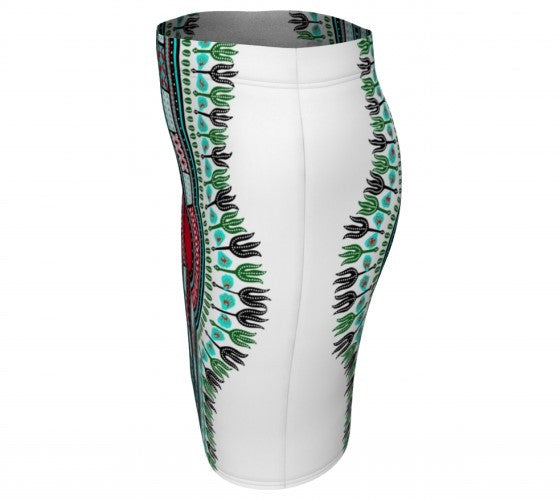 dashiki pencil skirt