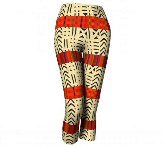 african print tights
