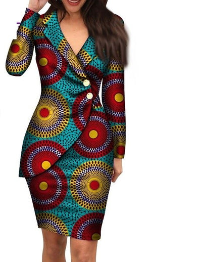 Classic wax print women mini suit