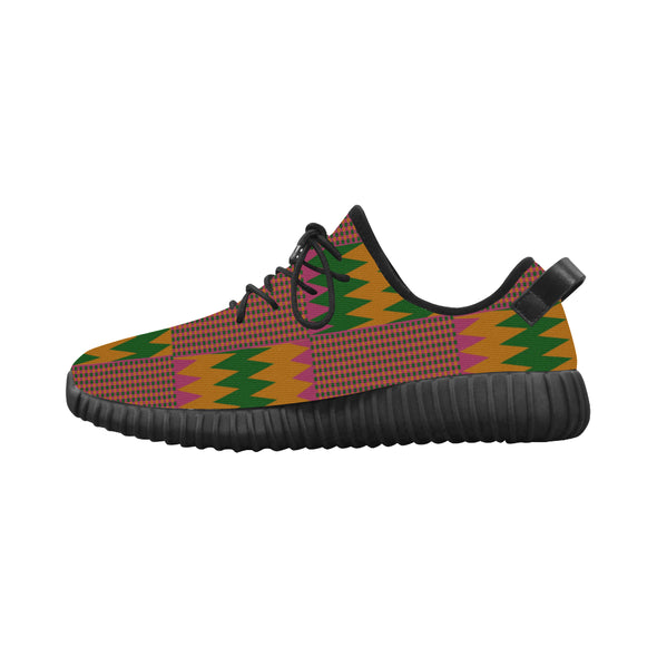 pink kente tennis sneakers
