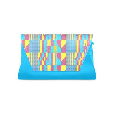 colorful kente clutch purse