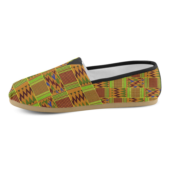 canvas kente shoes