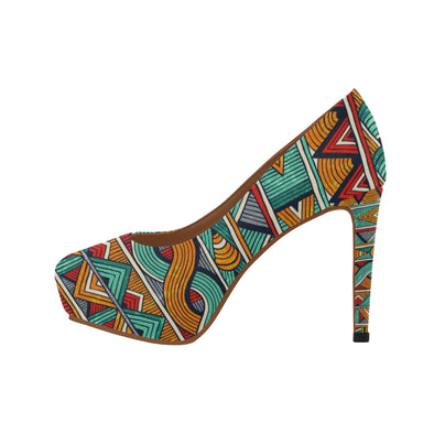 ankara high heels shoes