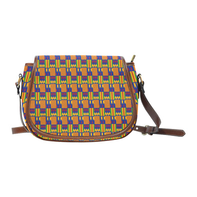 kente saddle bag