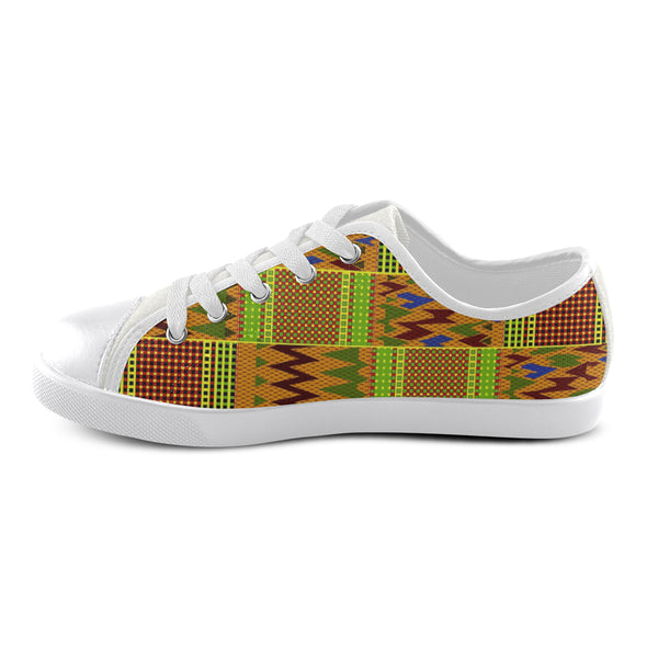 kids african print low top shoes