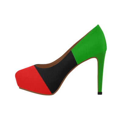 pan african flag high heels