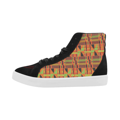 high top kente cloth shoes