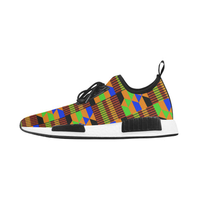 brown kente running shoes