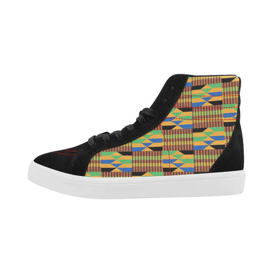 brown kente sneakers