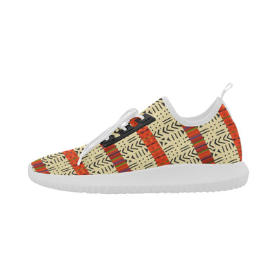 Tan kente print shoes
