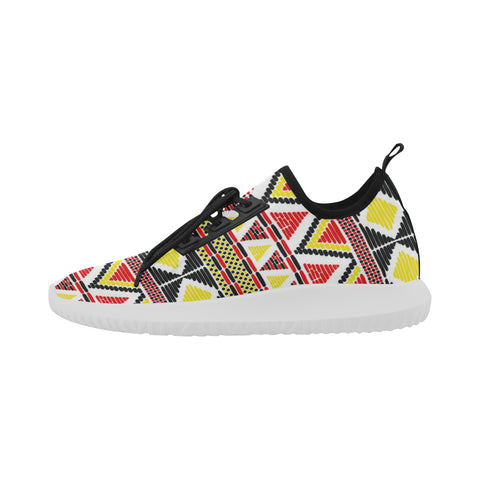 colorful tribal print shoes