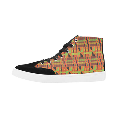 high top kente shoes