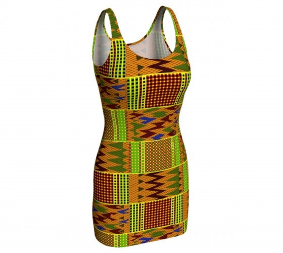 ghana kente cloth dress