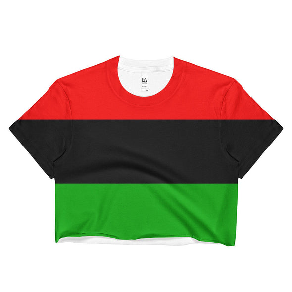 pan african flag crop top shirt