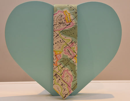 Skinny World Map Tie