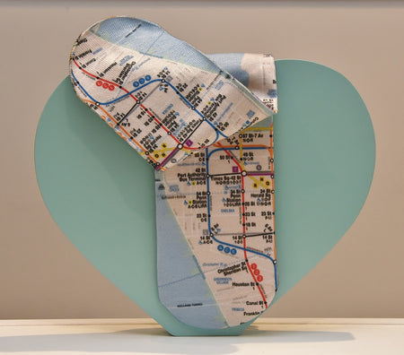 Unisex Manhattan Subway Map Socks