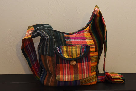Orange and Yellow Patchwork Bag from the Fair Trade Andean Collection