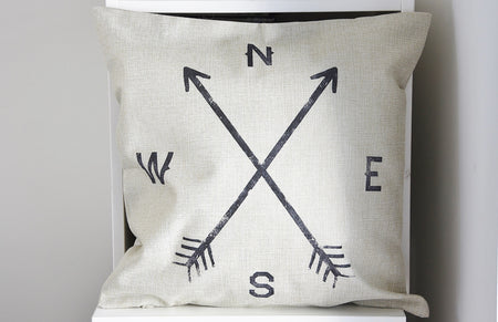 Compass Cushion Cover