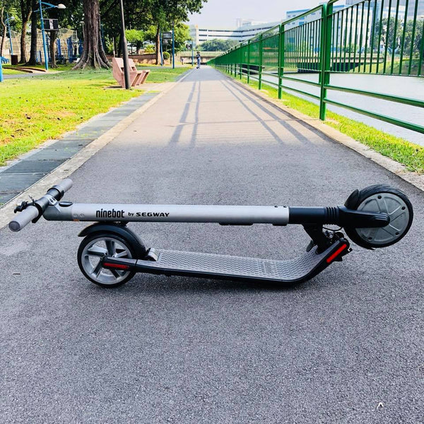 folded electric scooter