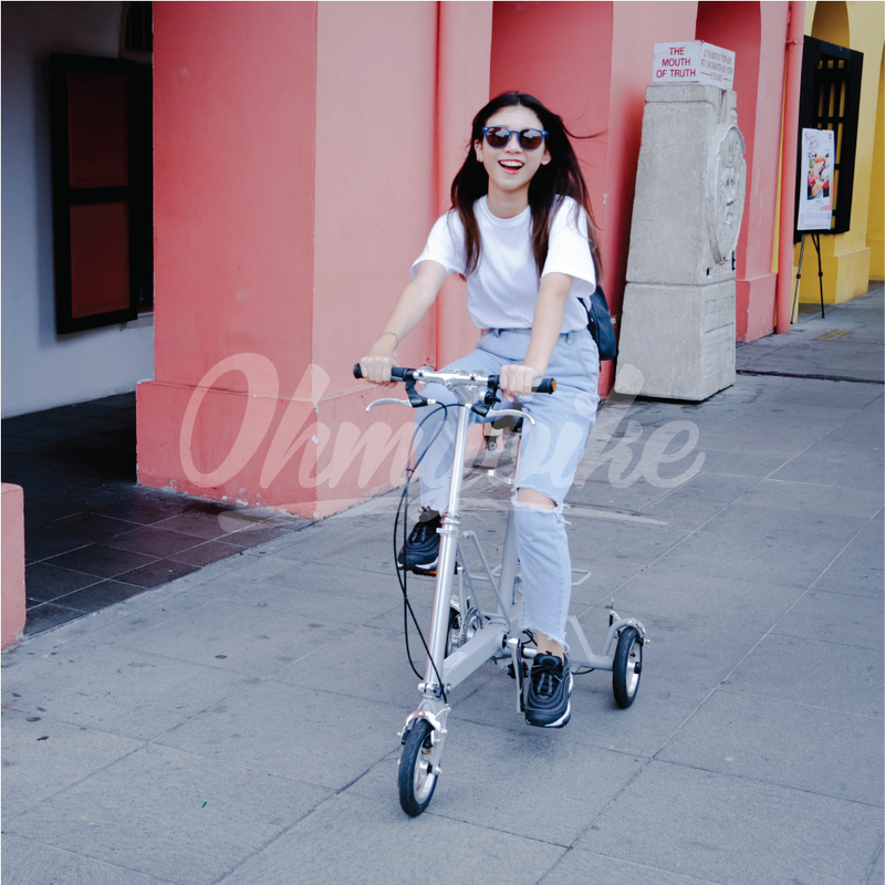 CarryAll Foldable Tricycle in Slate Grey - OHMYBIKE